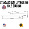 Picture of Channel Lifting Beam - 12 ft. with 7.5 Ton Capacity - Standard Duty  - SDLB- 7.5-12