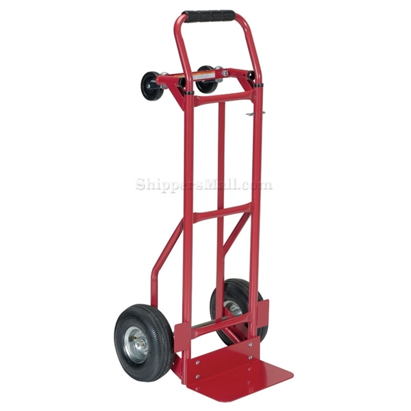 Convertable dolly from 2 wheel into 4 wheel dolly. Part: DSHT-500-PN