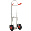 Foldup dolly with Pneumatic wheels. Nose plate folds up to save space. DHHT-250A-FD-PNF