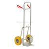 Folding dolly with urethane flat free wheels. Nose plate folds up to make it more flat. Flat-Free with Yellow Urethane Tires Part #: DHHT-250A-FD-UYF