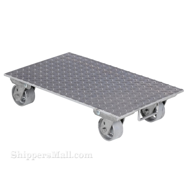 "Aluminum Plate Dolly with Steel Wheels 16 X 27"" No Handle"
