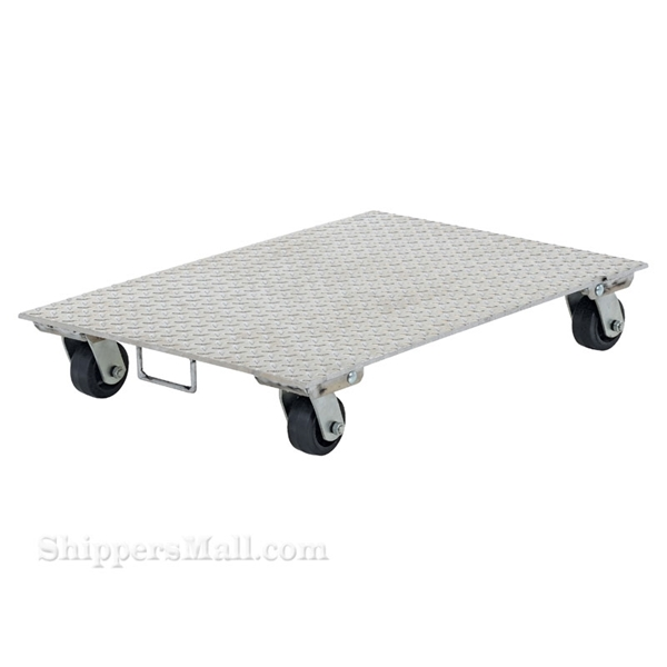 Aluminum Plate Dolly with Rubber Wheels/Handle 24x36""