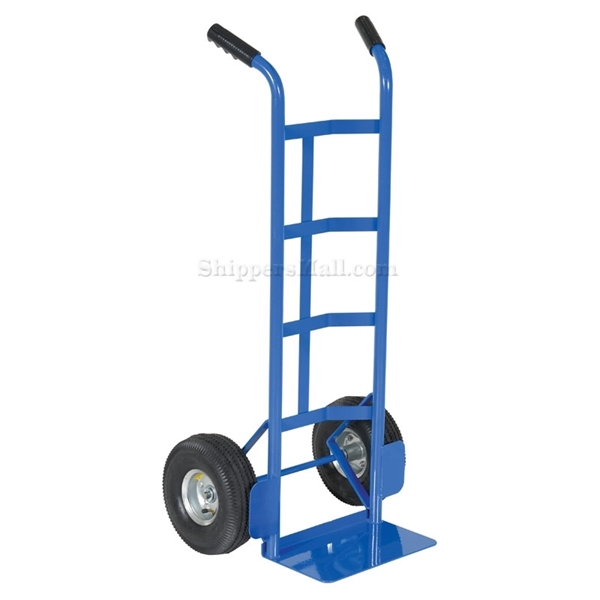 Box dolly with two handles, choose from solid or pneumatic (air filled) wheels, steel or aluminum. Part # DHHT-500S