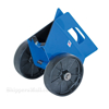 Heavy-duty plate/slab dolly with auto-clamp feature for moving doors, glass or large flat objects. Vestil #PLDL-HD-4-8GFN