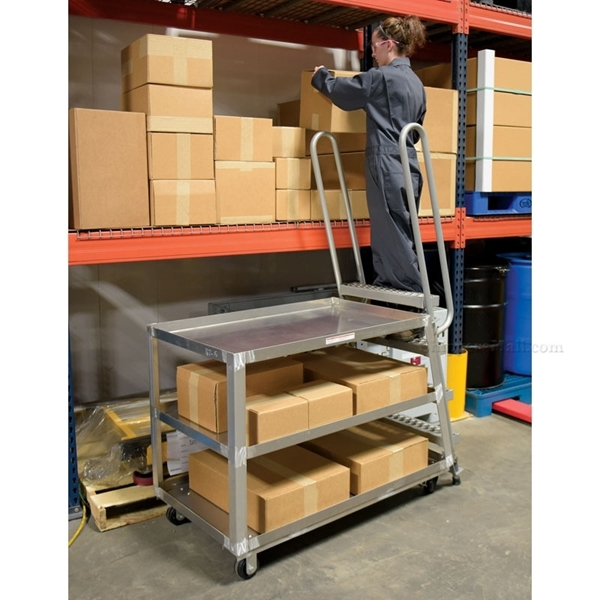 Stockpicker carts for industrial use High duty 500 lb capacity. Vestil Part SPA-HD-2852