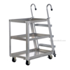 Aluminum Stock Picker truck. Stockpicker cart with ladder for pulling items from shelves. Has a capacity of 660 lbs. Mfg Part # SPA3-2236