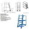 High Frame Cart 28 X 52 Mold-On-Rubber casters, #: SPS-HF-2852 drawing