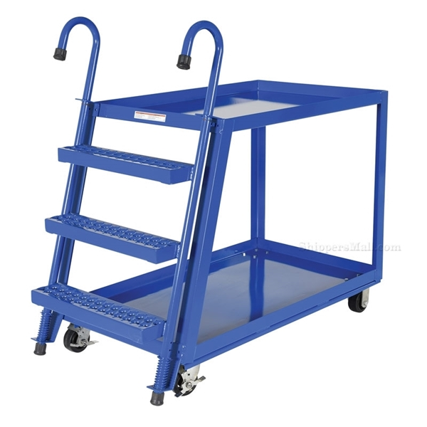 Stock Picker cart with 2 shelves, size 28 X 48 with molded rubber casters. , part #: SPS2-2848
