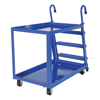 Stock Picker cart with 2 shelves, size 28 X 48 with molded rubber casters. , #: SPS2-2848