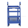 Stock Picker cart with 2 shelves, size 28 X 48 with molded rubber casters. , #: SPS2-2848  front