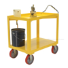 Ergonomic-Handle Cart with drain Drain 4K 24X36 for industrial use or factories great for food industry. - Model #: DH-PU2-GRP