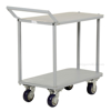 Two Tier Service Cart 18 X 35 Deck for industrial use or factories great for food industry. - Model #: STC-1835