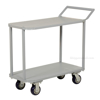 Two Tier Service Cart 18 X 35 Deck for industrial use or factories great for food industry. - Model #: STC-1835 a