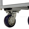 Two Tier Service Cart 18 X 35 Deck for industrial use or factories great for food industry. - Model #: STC-1835 caster
