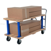 Double Deck Hardwood Platform Truck with a 1600 lb. capacity. Deck size; 27X54