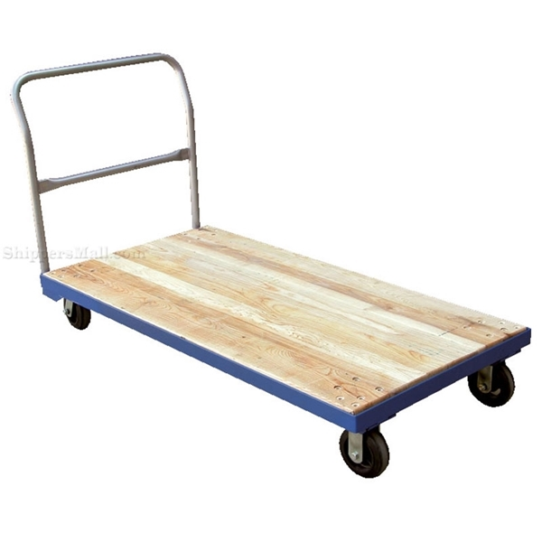 Hardwoodk platform cart with steel frame. Has a 1600 lb. capacity. Mold on Rubber casters.Part #: VHPT/S-3060