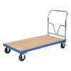 Hardwood platform dolly with steel frame. Mold on Rubber casters.Part #: VHPT/S-3672