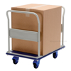 "Office Platform Cart with Front and Rear Handles and Foot Brake, Deck size: 24"" X 29"""