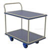 "Platform truck with Double Deck & Foot Brake, Deck size: 24"" X 34"""