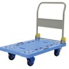 """Plastic Platform Truck with Folding Handle and Brake, Size 24""""W X 31""""L, Part #: TRP-2431-FB"""