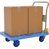 """Plastic Platform cart with Folding Handle and foot Brake, Size 24""""W X 31""""L, Part #: TRP-2431-FB"""
