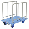 "Plastic Platform Truck with Side Handles and Foot Brake, 20""W X 36""L , TRP-2036-SH-FB"