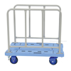 "Plastic Platform Truck with Side Handles and Foot Brake, 20""W X 36""L , TRP-2036-SH-FB 2"