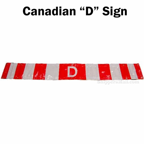 Canadian D reflective trucking sign banners