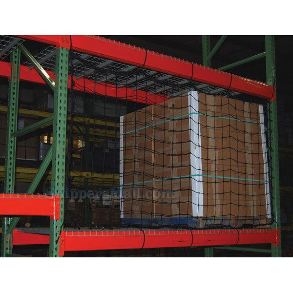 Pallet rack netting