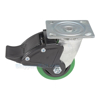 Polyurethane (Duratough, Green) Casters CST-F34-4X2DT-SWTB1 side