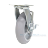 Thermoplatic Rubber (Duratek) Casters Swivel with brake Model: CST-F34-8X2DK-SWB