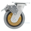 Rubber casters  swivel with total brake CST-KSM-6X2MR-SWTB
