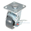 Rubber casters  swivel with brake CST-KSM-4X2MR-S