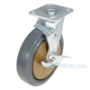 Rubber casters  swivel with brake CST-KSM-8X2MR-SWB