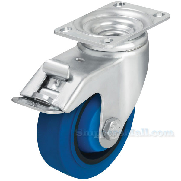 German made Industrial Caster, high quality non-marking solid rubber, Model; CST-AL-5X1SR-SWT