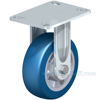 German made Industrial Caster, high quality non-marking polyurethane-elastomer (blue), Model; CST-ALH-6X2BESO-R