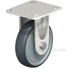 Industrial Caster, ss thermoplastic rubber-elastomer casters, Model; CST-A-SS-5X1TPE-R