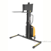 Narrow Mast Stacker with Power Lift and adjustable legs. SLNM-63-AA a