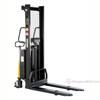 """SL-63-FF - Stacker with Powered Lift - Fixed Forks Over Fixed Support Legs / 63"""" H"""