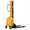 Narrow Mast Semi-Electric Stacker with Fixed Forks - SLNM-63-FF b