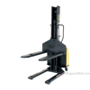 Narrow Mast Semi-Electric Stacker with Fixed Fork, 1500 lb. Capacity - SLNM15-63-FF b