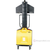 Narrow Mast Semi-Electric Stacker with Fixed Fork, 1500 lb. Capacity - SLNM15-63-FF d