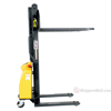 Narrow Mast Semi-Electric Stacker with Fixed Fork, 1500 lb. Capacity - SLNM15-63-FF e